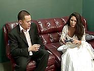 Horny Bride Gets Fucked In Front Of Her Cuckold Broom