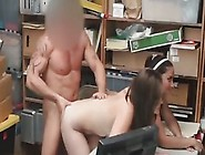 Milf And Her Teenage Daughter Fuck In The Back Storage Room Of A