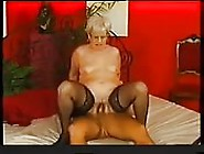 German Granny In Pantyhose Fucks Younger Man
