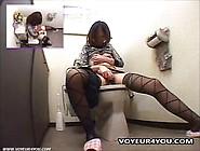 Cute Japanese Babe Finger Fucks Her Hairy Beaver.