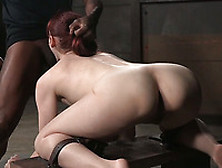 Redhead White Milf In The Bdsm Shed Getting Double Teamed