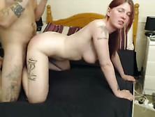 Redhead Milf Gets Pussy Slammed From Behind