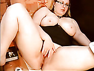 Gorgeously Hot Bbw Blonde Is Playing With Her Big Dildo