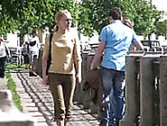 Amateur Russian Bitch In Public Pisses In Her Pants