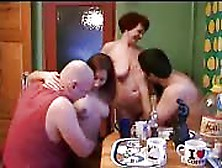Incest Family Drinks And Goes Fucking