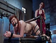 Thick Readheads Mistress Kara And Barbary Rose Using Bdsm Electr