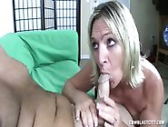 Naughty Mom Rubs Cock And Gets Facialized