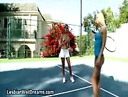 Stunning Blonde Tennis Player Goes Topless