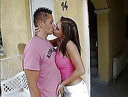 Candy Meet Her New Neighbor Outdoors,  A2M,  Facial Cumshot