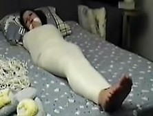Mummified Whore Betty Is Struggling And Gets Feet Tickled