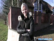 Public Agent Her Pussy Gets Splattered With Spunk