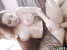 Gorgeous Cali Carter Oiled And Fucked In The Ass