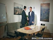 Brazzers - Big Tits At Work - Under The Table Deal Scene Starrin