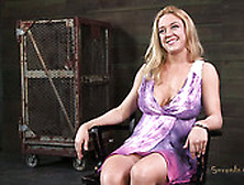 Curvaceous Blond Slut Darling Gets Tied With Rope In Hot Bdsm Vi