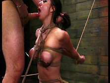 Slut Gags On A Hard Cock While Sitting On A Sybian