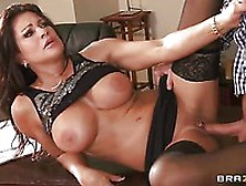 Milf With Big Boobs Teri Weigel Climbs The Table And Goes Under