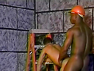 Black Gay Men In Hard Hats Bending Over And Fucking