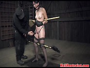 Tattoeed Babe In Sex Machine Humiliation Session