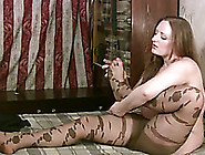 Chubby Brunette In Pantyhose Pleases Herself With Fingering Indo