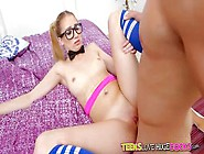 Teens Love Huge Cocks - Sweet Nerdy Blonde Gets Plowed