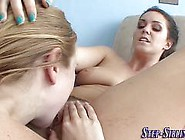 Two Good Looking Lesbian Babes Are Ready For Pussy Licking And F