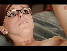 Penny Is A Cute,  Red Haired Babe With Glasses,  Who Likes To Get
