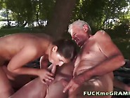 Petite Teen Fucks Both Grandpa's