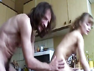 Horny Stepdad Fucking His Stepdaughter In The Kitchen