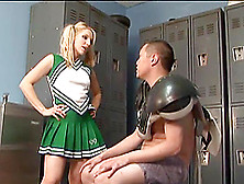 Fantastic Ashley Fires Shares A Foot Fetish In The Locker Room