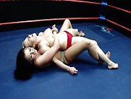 Wrestling: Carolyn Vs.  Ashley - Topless Catfight With Facesit Fo