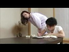 Mom From Japan Trains A Young Man To Be A Good Lover,  Perfect Fo