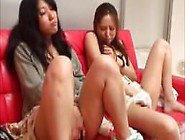 Two Sweet Asian Girls Watch Porn And Masturbate Together