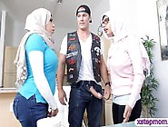 Two Busty Arab Women Enjoyed Threesome Action On The Co