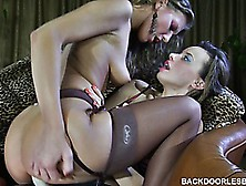 Barbara And Irene Like Using The Strapon,  Best Of All,  For Hot L