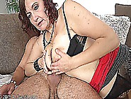Hairy Justina (45 Y.  O.  ) In Black Stockings