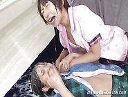 Two Japanese Sluts Get Covered In Cum