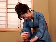 Avmost. Com - Asian Chick In Kimono Wanking And Humping Her Guy&#