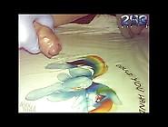 Slow Motion Cumshot On A Rainbow Dash Shirt.