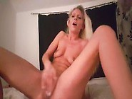 Hot Blonde Cumming Twice With Dildo