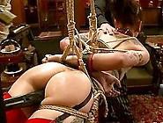 Krysta Kaos And Lilla Katt Get Bound And Enjoy Some Ardent Toyin