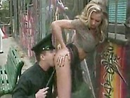Stupid Whore Arrested By A Policeman