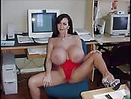 Superbly Busty Show Girl Bares All On Camera