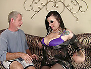 Scarlet Lavey Is A Busty Beauty In Need Of A Mature Man's Cock