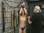 Beautiful Long Haired Girl Whipped Hard In Bdsm Porn Clip