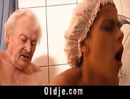 Grandpa Fucks Hot Tanned Teen Under Shower