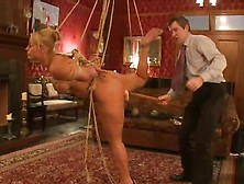 Dazzling White Haired Siren Mellanie Monroe Is Being Tortured To