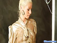 Candy Blonde In Bukakke Party At The Gloryhole