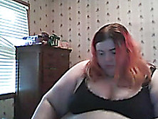 Ssbbw Redhead Amateur White Lady Shows Her Belly On Webcam