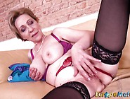 Granny Rubs Her Warm Pussy