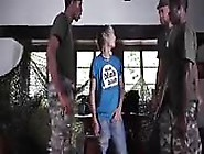 Hot Amateur Blonde Twink Has Fun With Two Black Cocks
